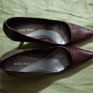 Nine West pumps, size 9, wine/dark burgundy